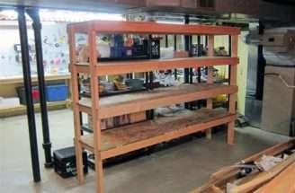 Build Basement Shelf Organize Wood