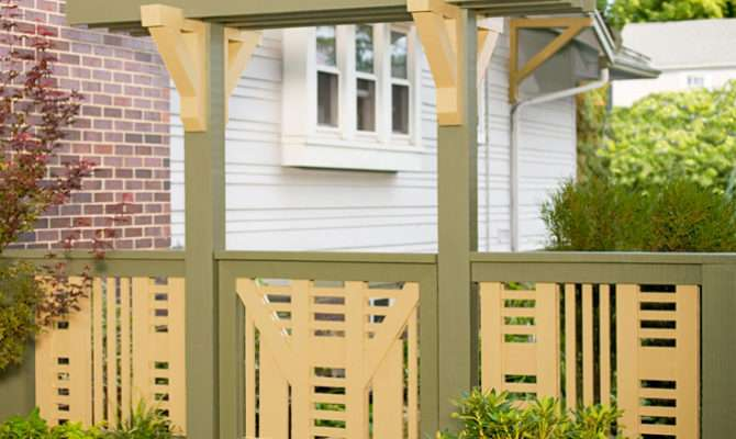 Build Fence Gate Arbor