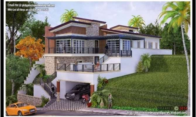 Build House Sloping Decorating Design