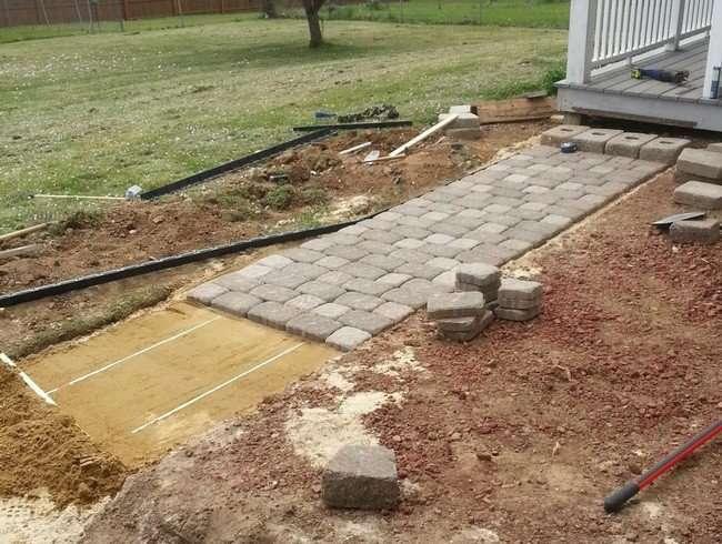 Build Pavestone Home Entranceway Walkway Brick Pavers