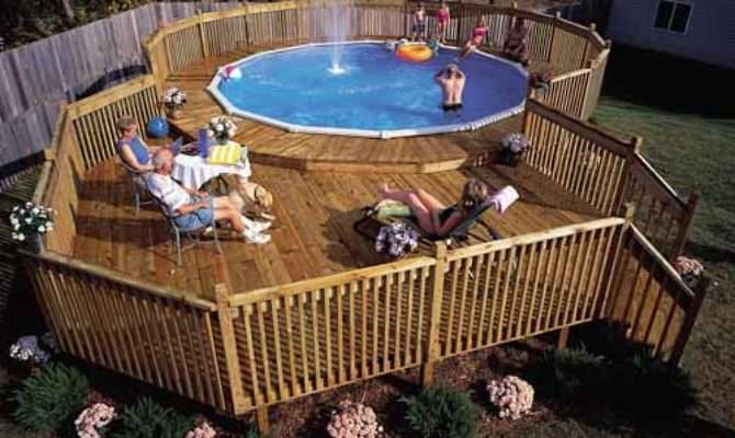Build Pool Deck Above Ground Plans