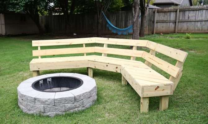 Build Your Own Curved Fire Pit Bench Beautiful Mess