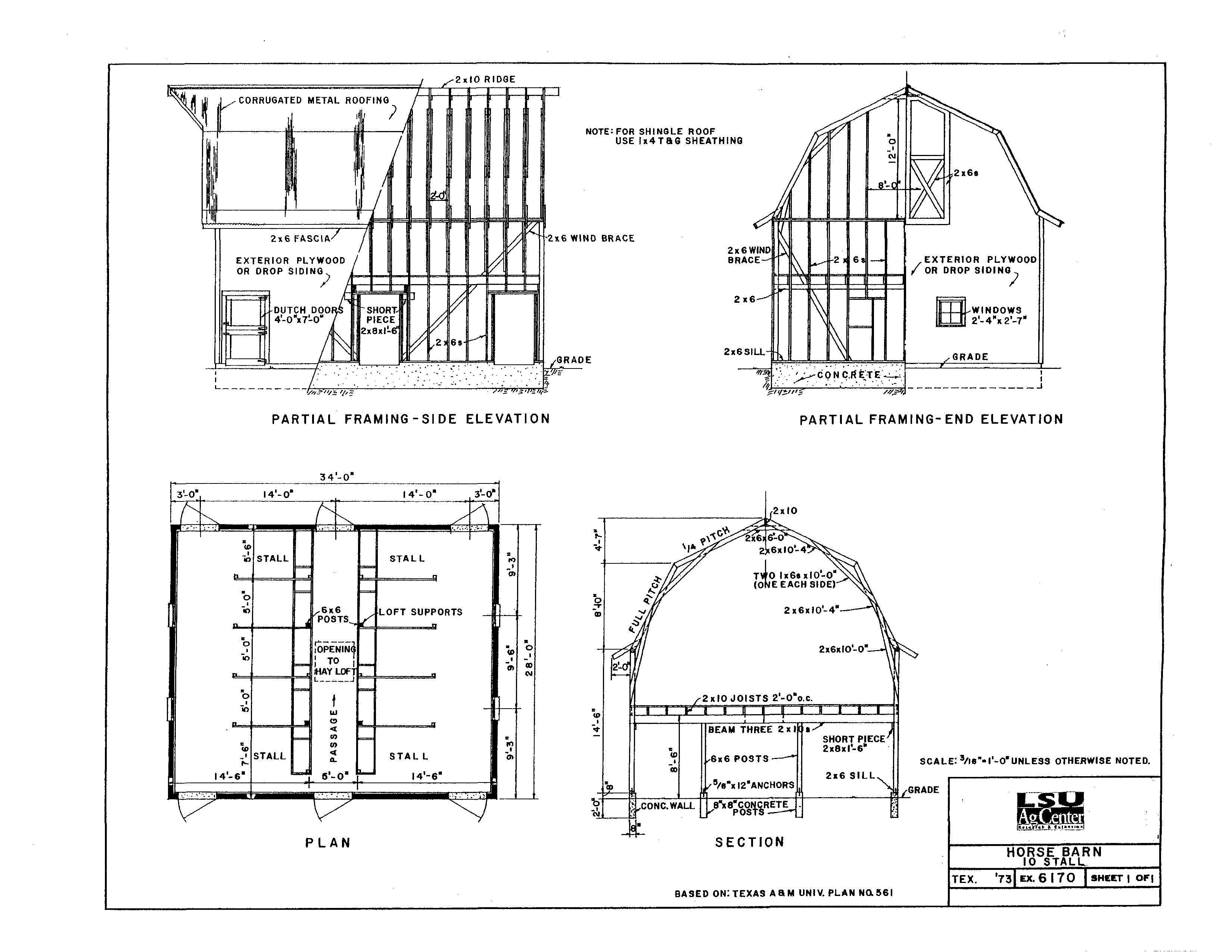 Building Plans Small Horse Barn House