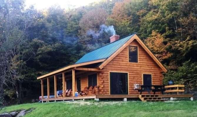 Building Tiny Texas Dream Home Log Cabin Kits
