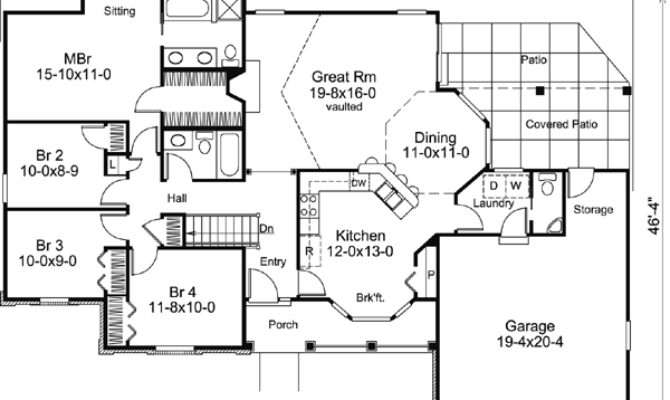 Bungalow Bedroom House Plans Home Design Style