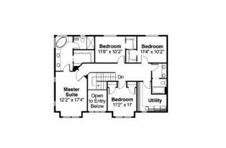 Bungalow House Plan Cavanaugh Floor