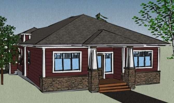 Bungalow House Plans Attached Garage Car