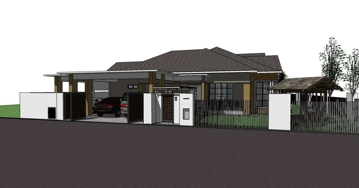 Bungalow House Plans Single Storey Skalastudio Residential