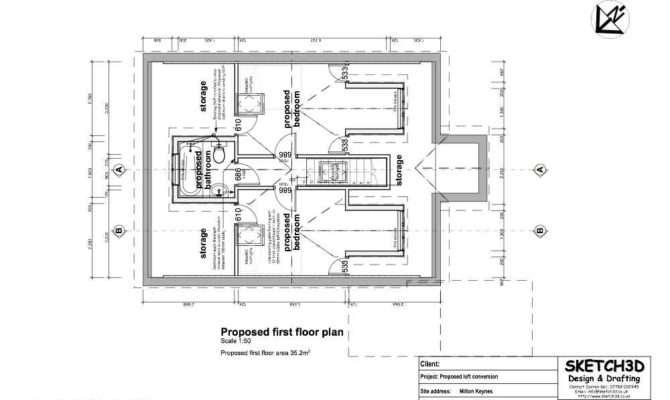 Bungalow Loft Conversion First Floor Plan