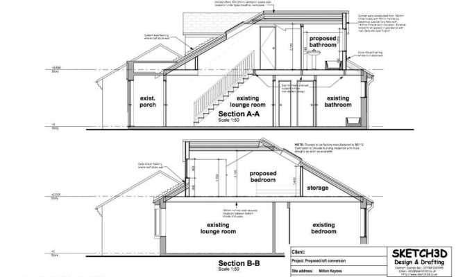 Bungalow Loft Conversion Sections