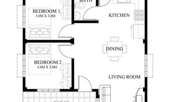 Bungalow Single Story Modern House Floor Plans