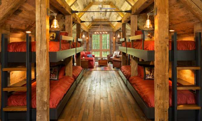 Bunk House Rustic Interiors Home Bunch Interior