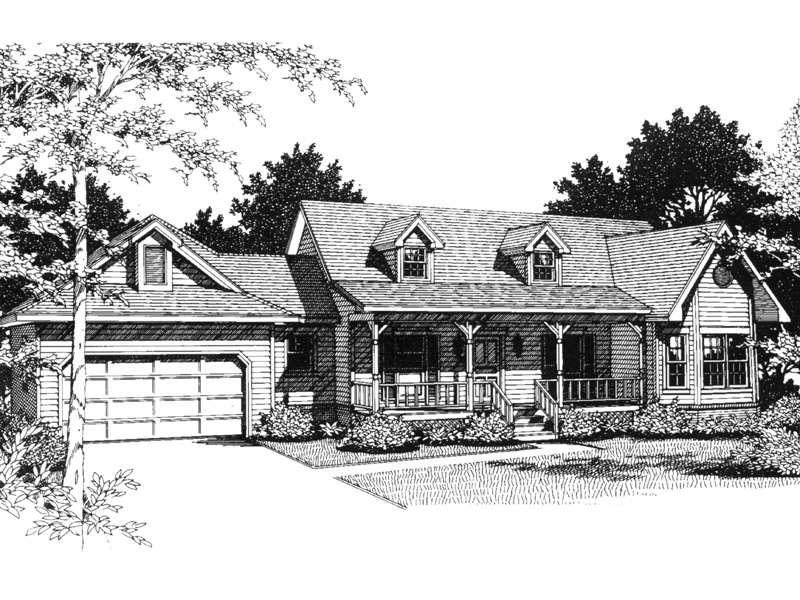 Butler Way Cape Cod Ranch Home Plan House
