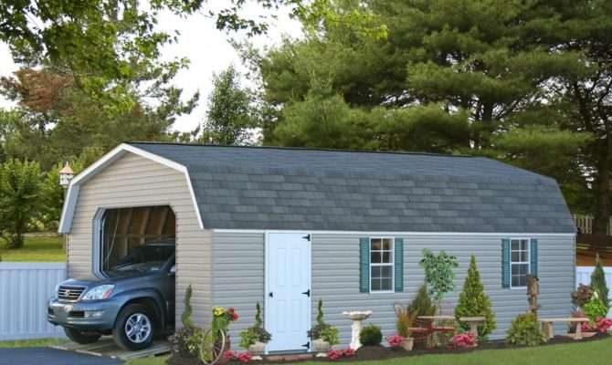Buy Economy Single Car Garages Wood Vinyl Prices