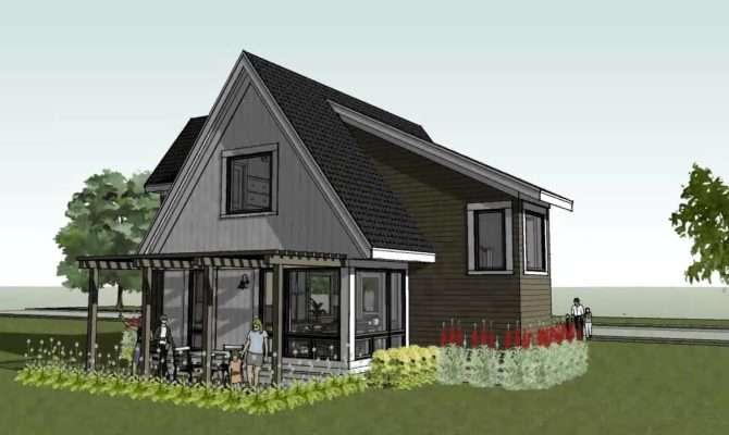 Cabin Beach Home Design Scandia Modern Cottage House Plan Youtube