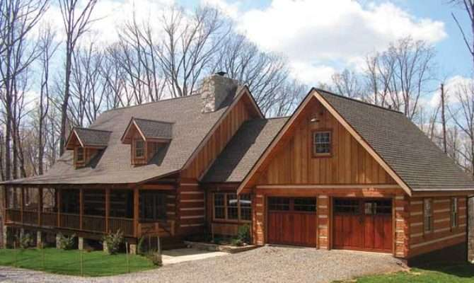 Cabin House Plans Attached Garage Home Deco