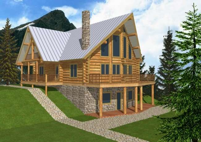 Cabin Style House Plans Floor