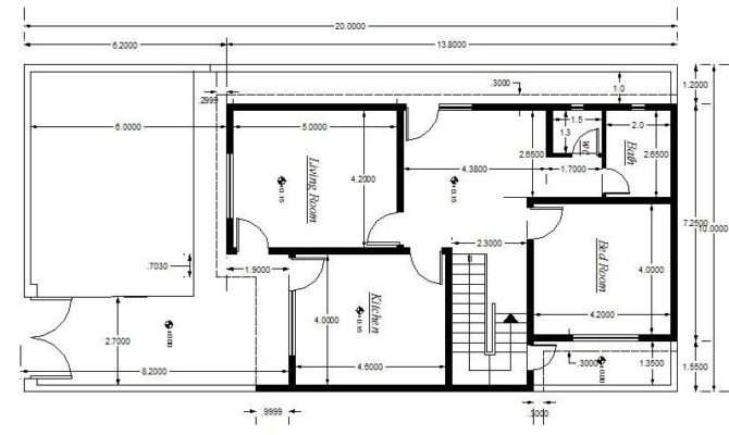Cad Block House Plan Setting Out Detail Cadblocksfree