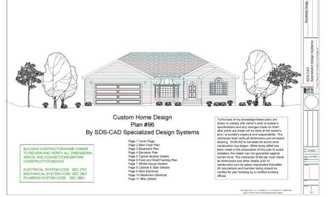 Cad House Plans Home Floor Build
