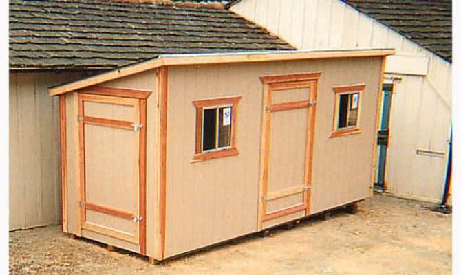 California Custom Sheds Shed Roof