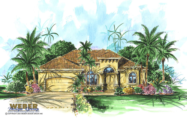 California House Plan Story Coastal Mediterranean Home