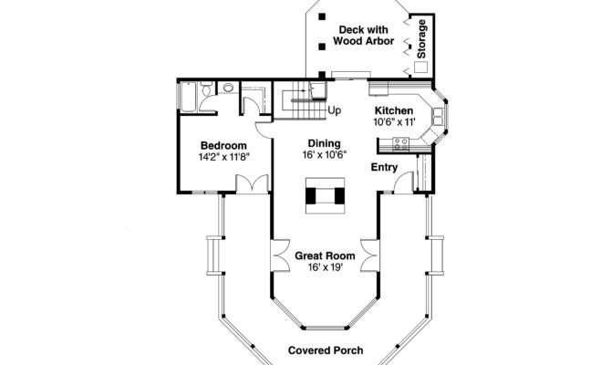 Cape Cod House Plan Lakeview Floor