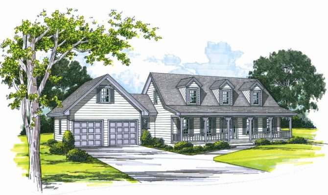 Cape Cod House Plans Attached Garage Cottage