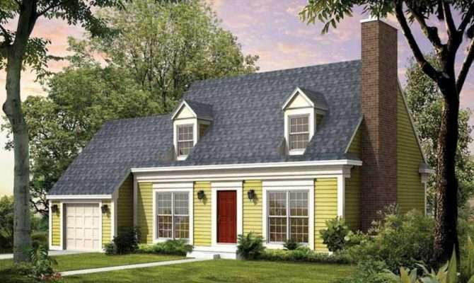 Cape Cod House Style Garage Designed Green Wall