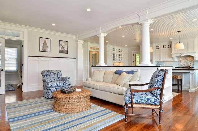 Cape Cod Shingle Style Home Traditional Room