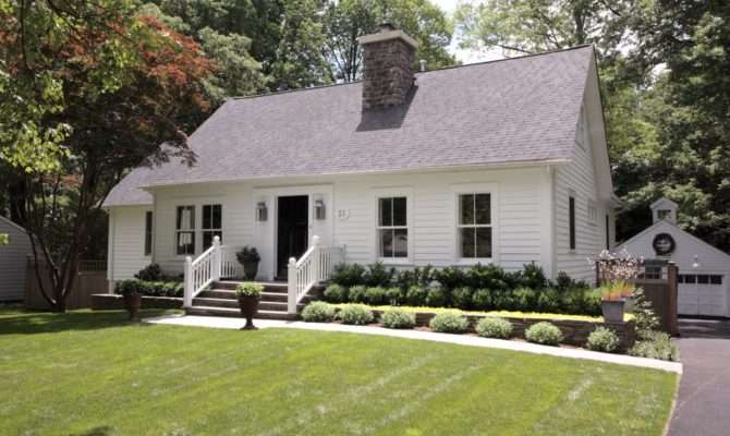 Cape Cod Style House Exterior Farmhouse Front Door