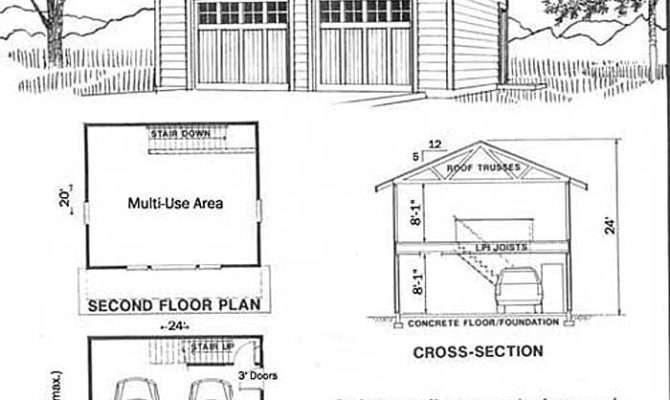 Car Craftsman Style Garage Plan Loft