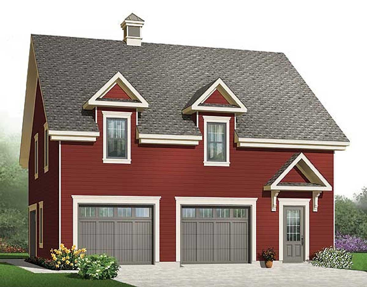Car Garage Storage Bonus Room Cad