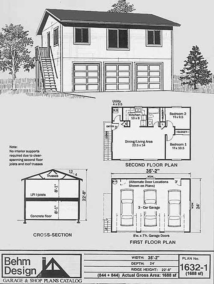 Car Story Apartment Garage Plan