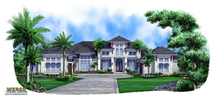 Caribbean House Plan Story Contemporary Beach Home