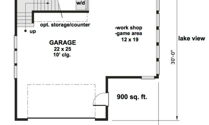 Carriage House Plan Man Cave Potential