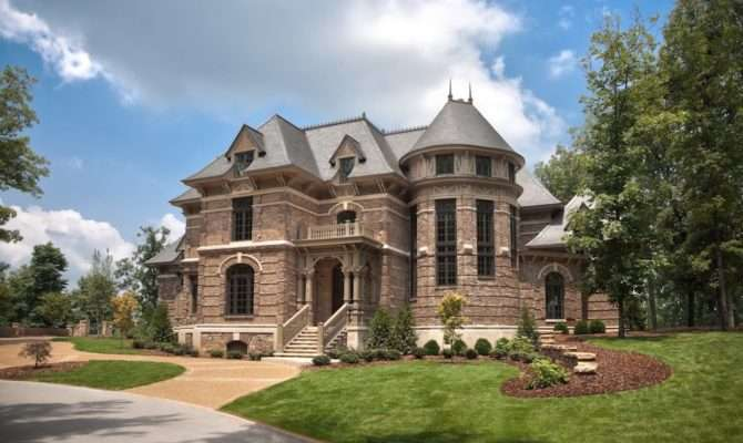 Castle Style Homes Exterior Traditional Hot Tubs