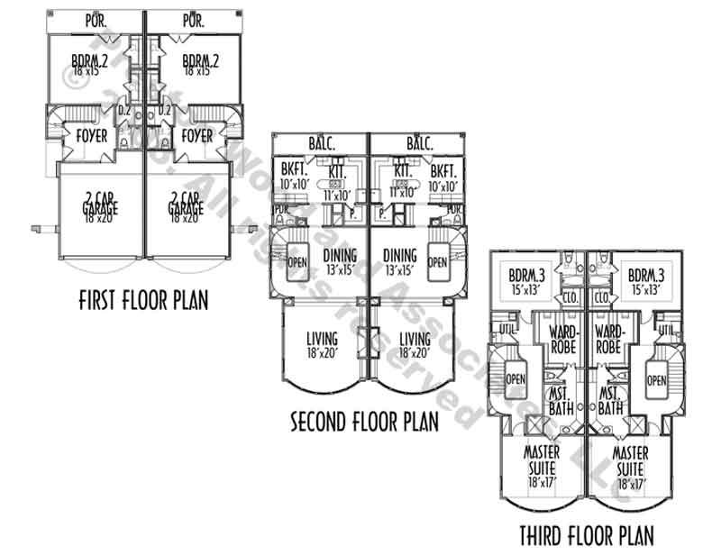 Catalog Duplex Plans Townhouse Plan