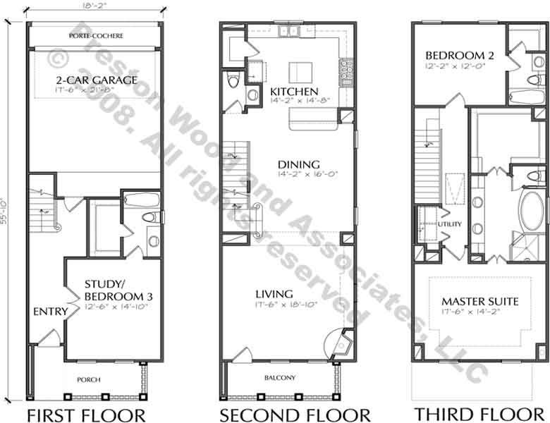 Catalog Townhouse Plans
