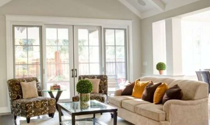 Cathedral Ceiling Living Room White Fan