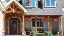 Cedar Porch Posts Traditional Front Lakefront