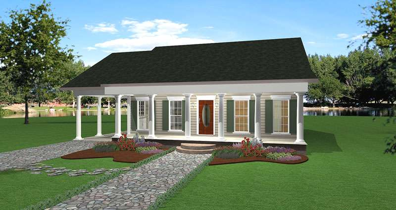 Cedar Run Southern Style Home Plan House Plans
