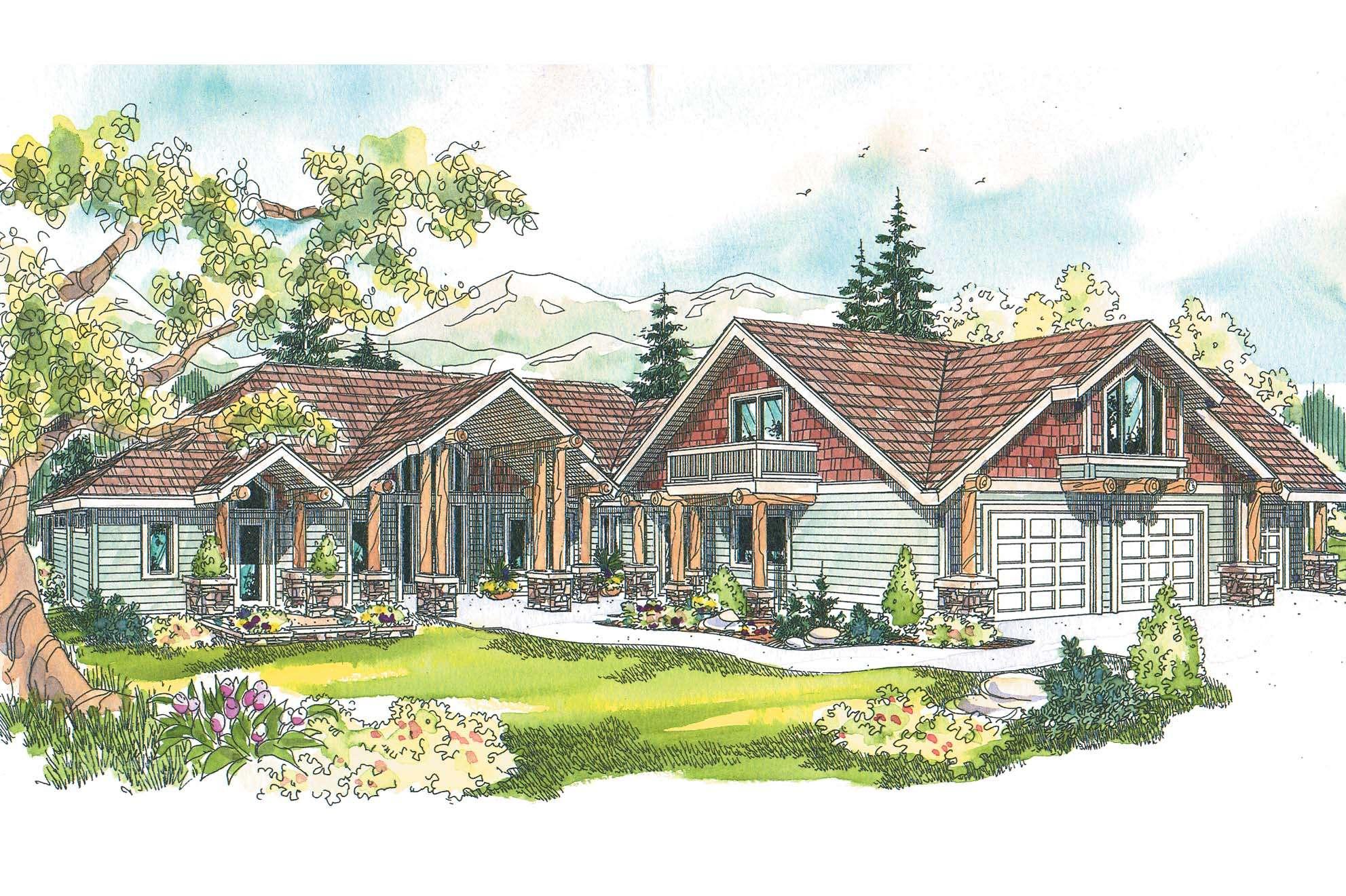 Chalet House Plans Missoula Associated Designs