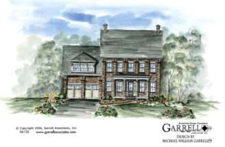 Charleston House Plan Front Elevation Traditional Plans
