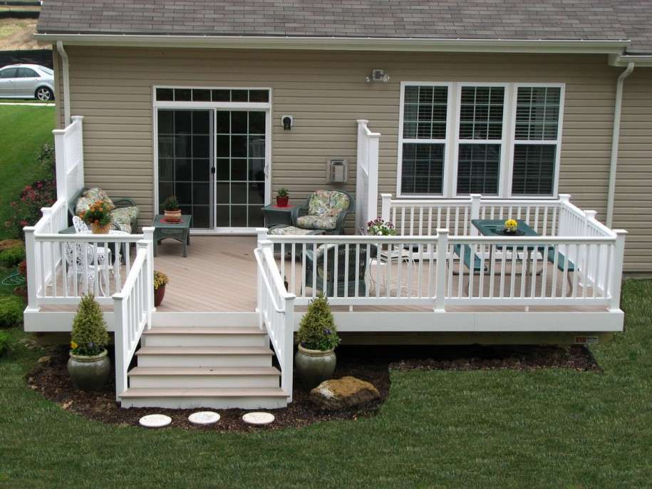 Charming Decks Mobile Homes Decor