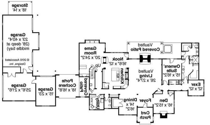 Chateau House Plan Picardie Villa Floor
