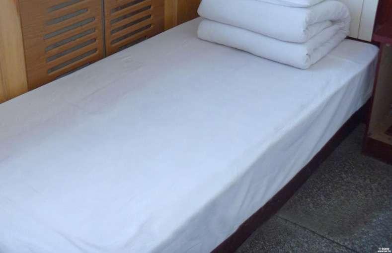 Cheap White Plain Single Bed Sheets Hotel Hospital