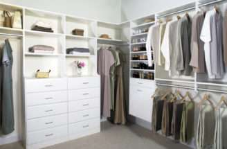 Cherry Walk Closet Island Features Include Center
