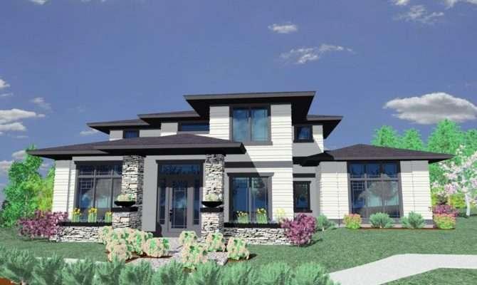 Chic Modern Prairie Style House Plans Design
