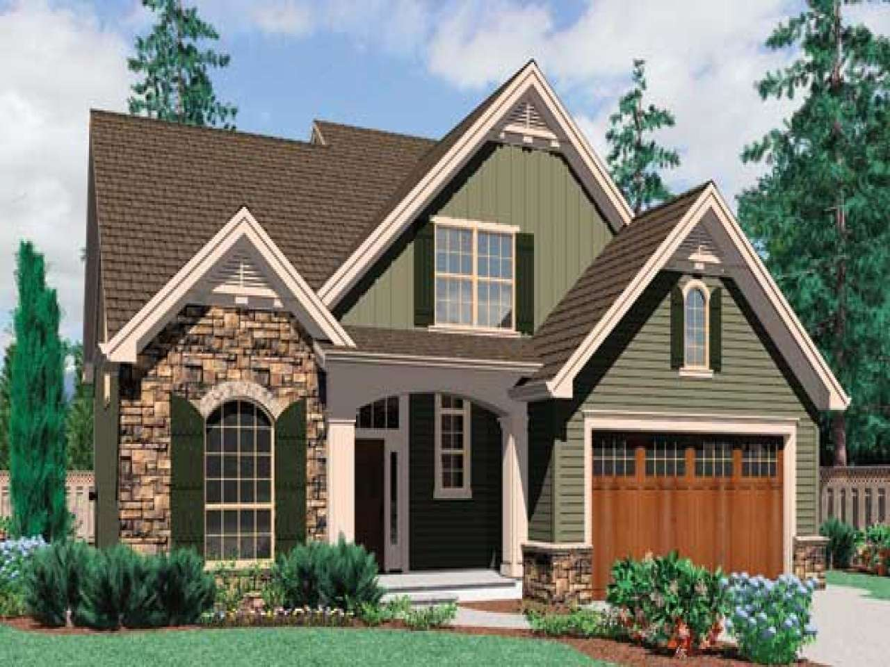 Chic Story Cottage Style House Plans Design