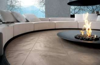 Circular Conversation Pit Central Fireplace Design Olpos